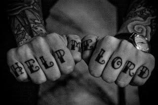 #helpmelord #knuckletattoo