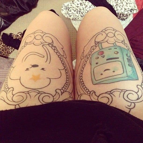Adventure Time tattoo, artist unknown