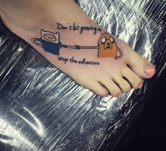 Adventure Time tattoo by Tom Wayden