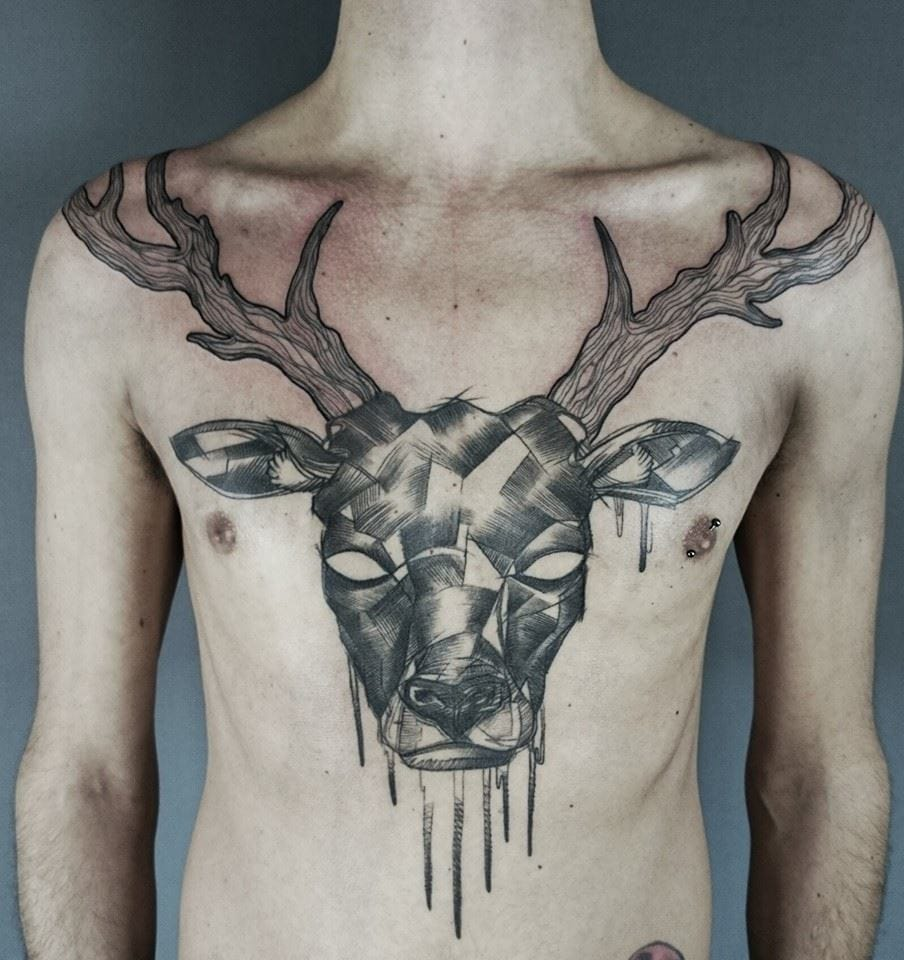 15 Noble Stag And Deer Tattoos
