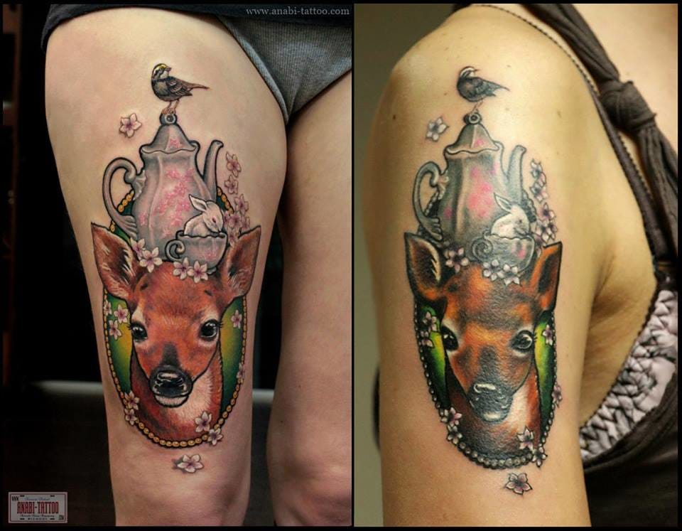 Would you like seeing a copy of your tattoo on someone else? Left by Anabi and right by copycat.