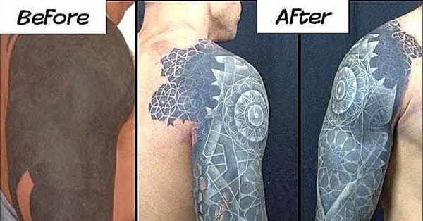 Color and white ink over blackwork tattoos tattoodo for What is the best black ink for tattooing