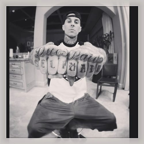 This is why Travis Barker's AWESOME as f***! <3 Love him. Tattoo by Chuey Quintanar.