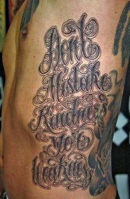 Beautiful letter tattoo