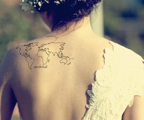 Beautiful and simple map tattoo!
