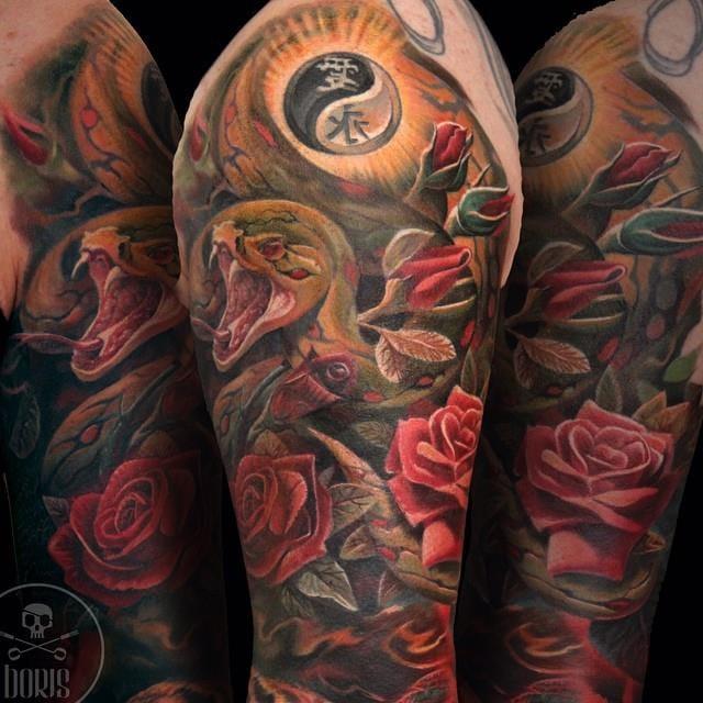 Amazing realistic tattoo by Boris Tattoo!