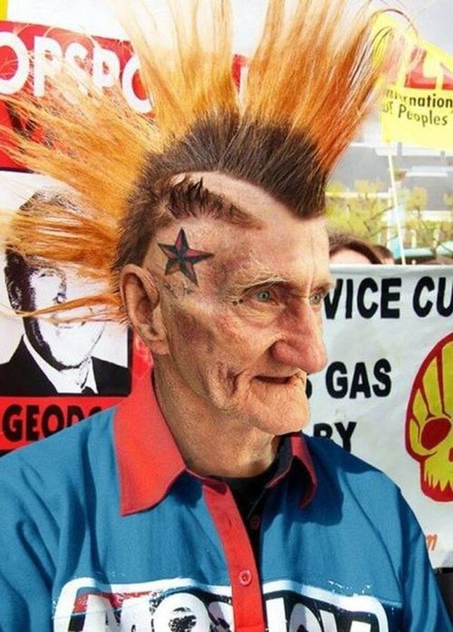 Once a punk always a punk... worrying about how your punk years tattoos will look when you will be older? Badass!