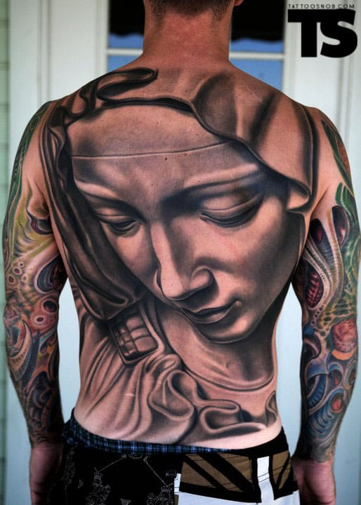 Beautiful Mary mother of God tattoo