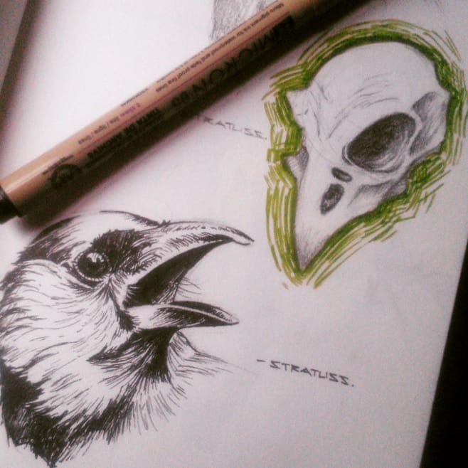 18 Ominous And Dreamlike Bird Skull Tattoos Tattoodo