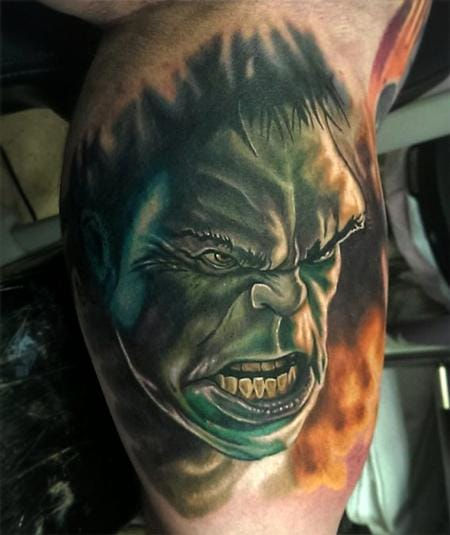 18 Smashing Hulk Tattoos