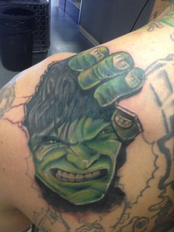 Awesome Hulk tattoo