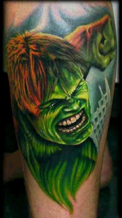 Impressive Hulk tattoo