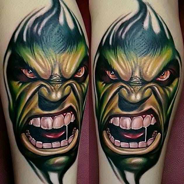 Awesome bit of Hulk ink by Kirt Silver