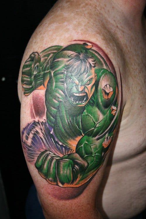 Insane Hulk tattoo