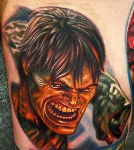 Mind blowing talent Nikko Hurtado did this equally mind blowing tattoo