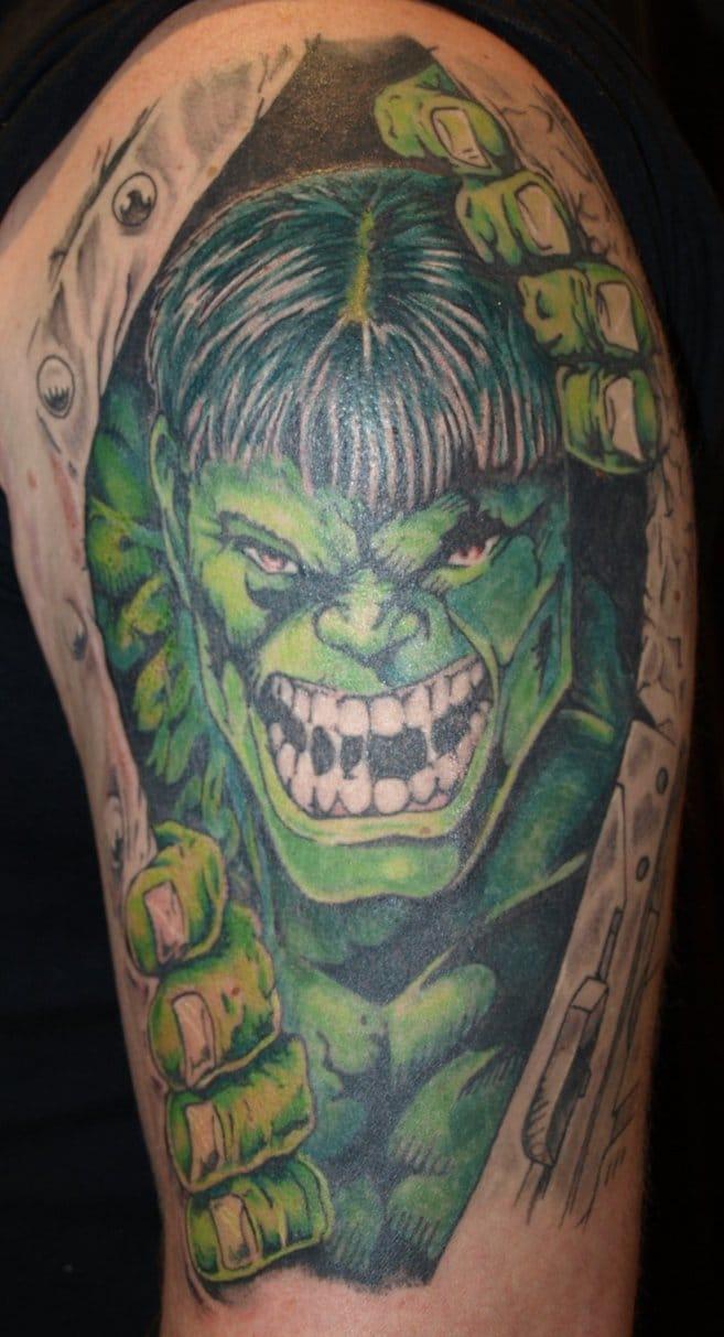 Peek-a-boo Hulk!