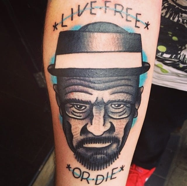 Great Walter White Tattoo by Love Hate Social Club