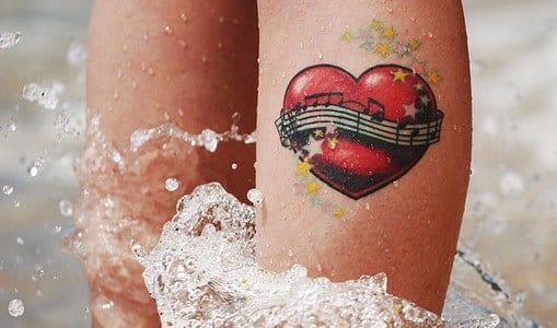 tattoo of blowholehidieho #heart #music