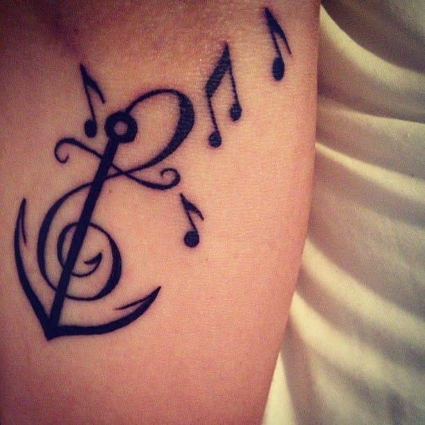 Music tattoo. Aritst unknown #musictattoo