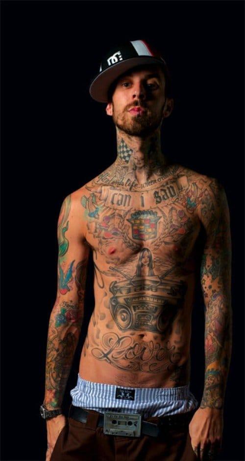 Travis Barker #travisbarker #blink182 #music #musictattoos