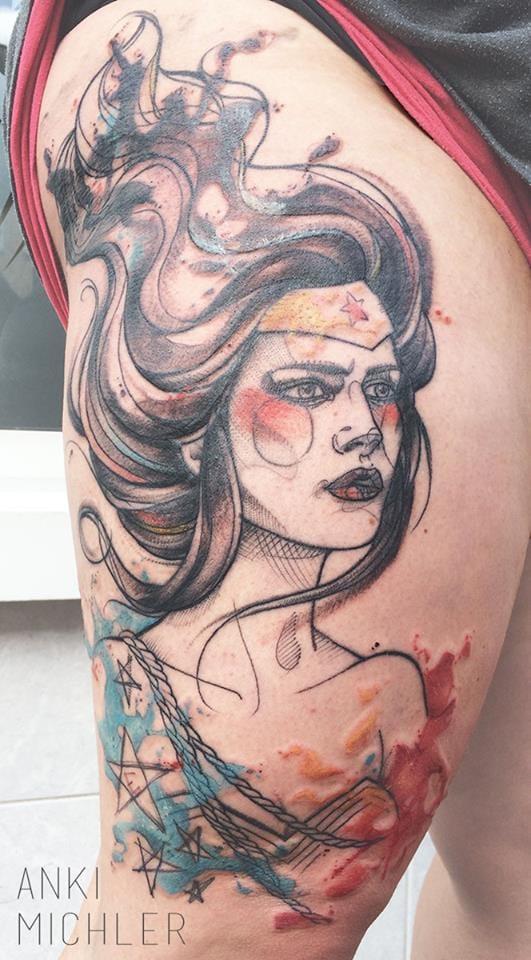 Dynamic Wonder Woman tattoo!