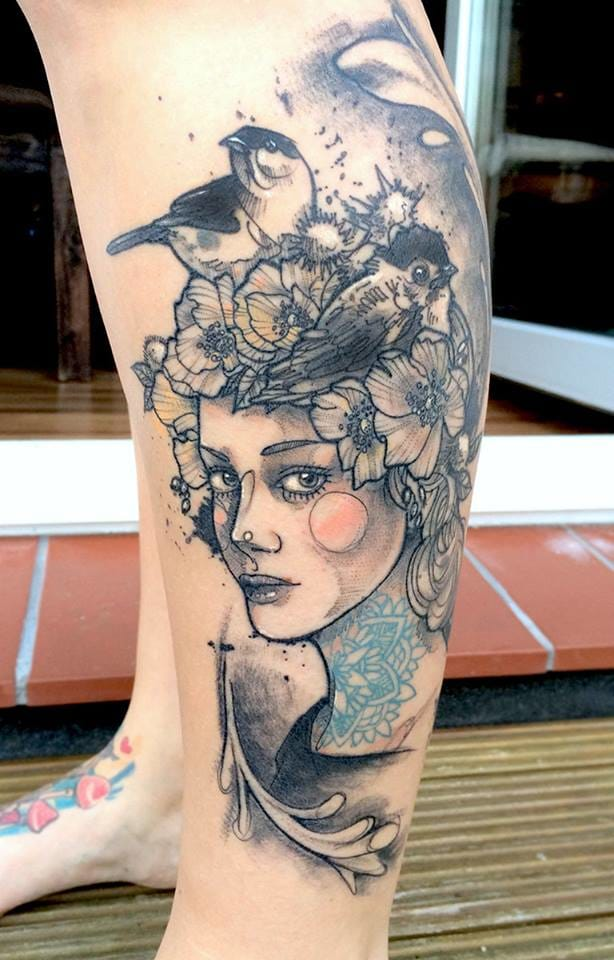 The heroines of Anki Michler are often tattooed themselves.