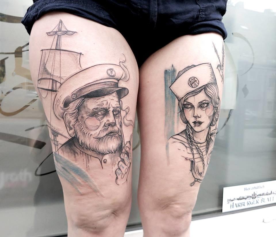 Awesome sketching design tattoos