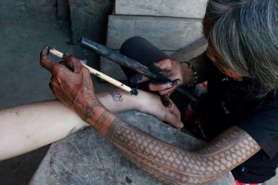 Hand-poked tattoos