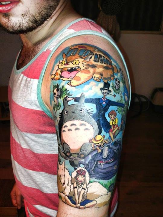 Half sleeve with the Ghibli gang (unknown artist).