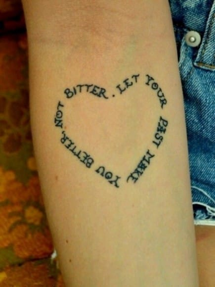 You better not bitter, let your past make. Divorce tattoo