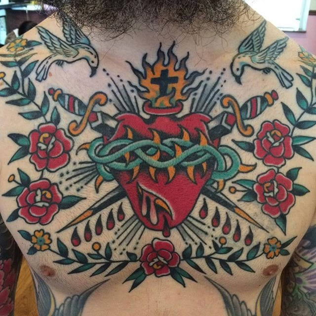 The Passion of Christ and Traditional Tattoos of Sacred Hearts
