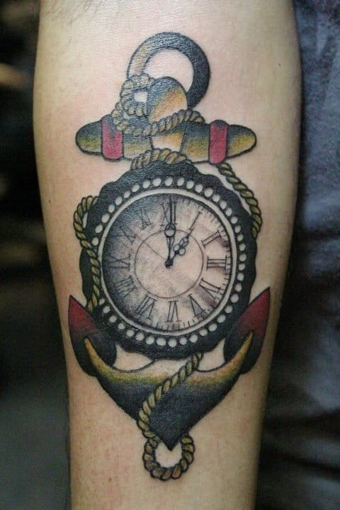 15 Wonderful Clock Tattoos | Tattoodo