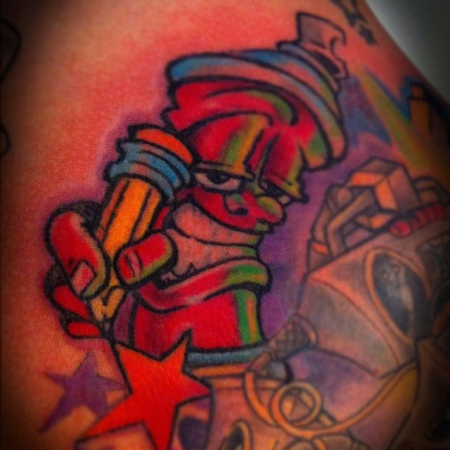 Awesome and creative tattoo by Dan Gold