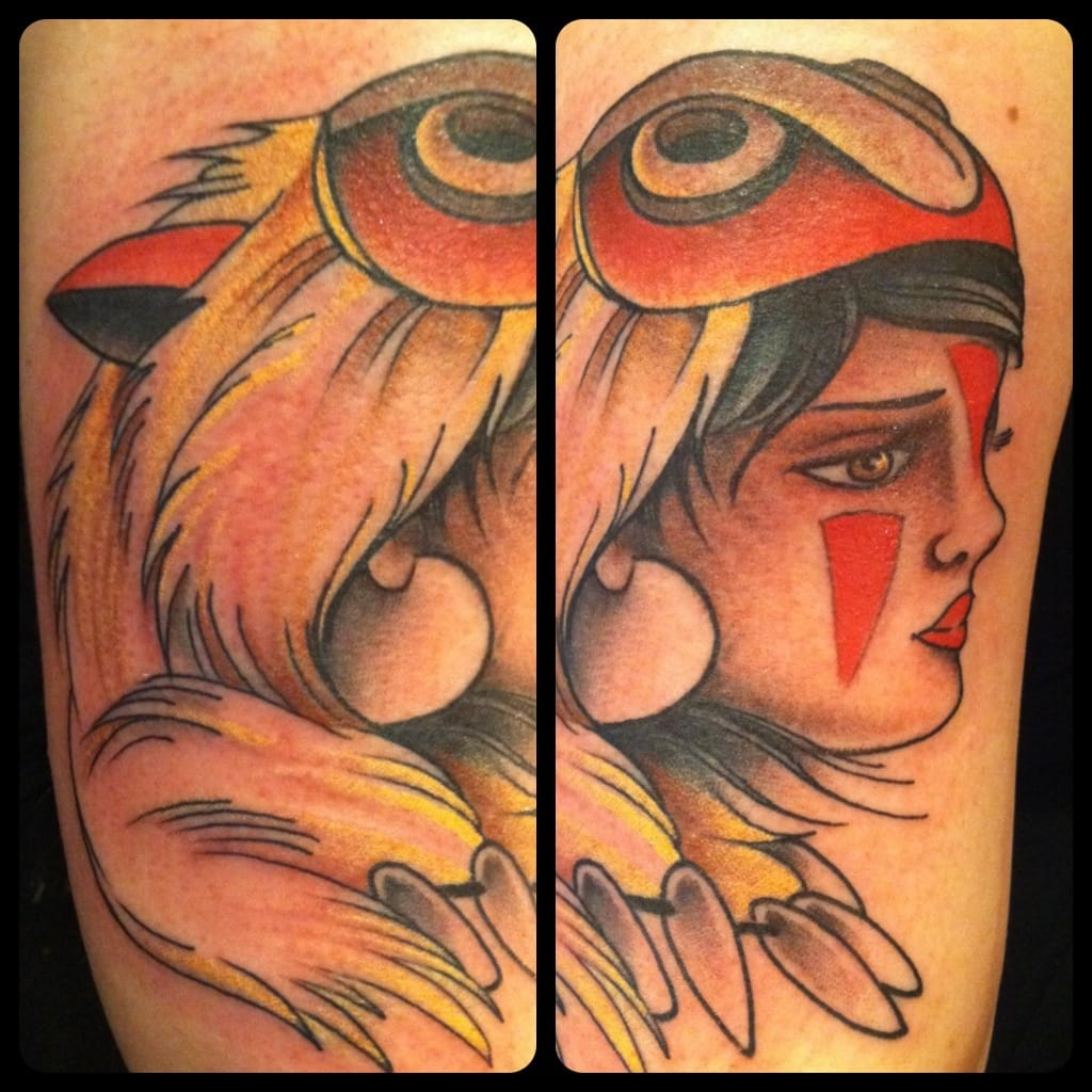 Princess Mononoke inspires artists : here an old-school version by Thomas Kenney.