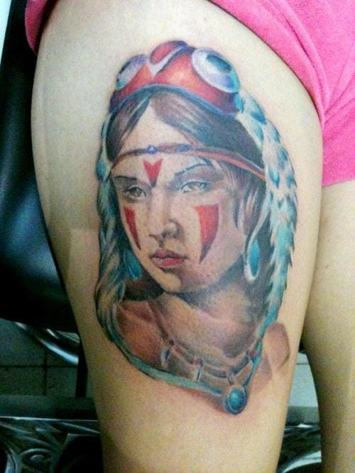 Native American portrait of San by Christian Solis.