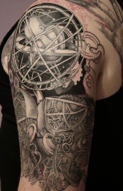 Stunning astrological steampunk tattoo!!