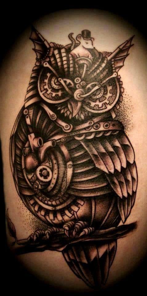 Beautiful steampunk owl