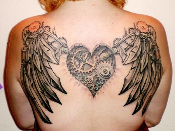 Great steampunk heart and wings