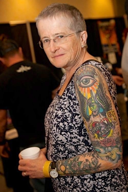 Young, hot models aren't the only women out there rocking ink.