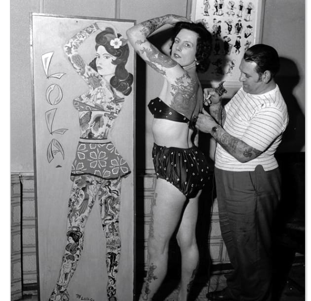 Flashback to tattooing in the 40's.