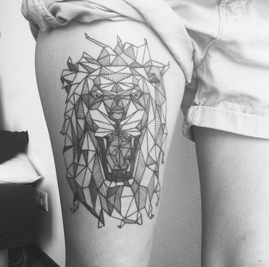 5 Beautiful Linework Geometric Animal Tattoos