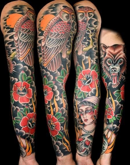 Traditional Tattoo Sleeves: 7 Time Honoured Traditional Sleeves