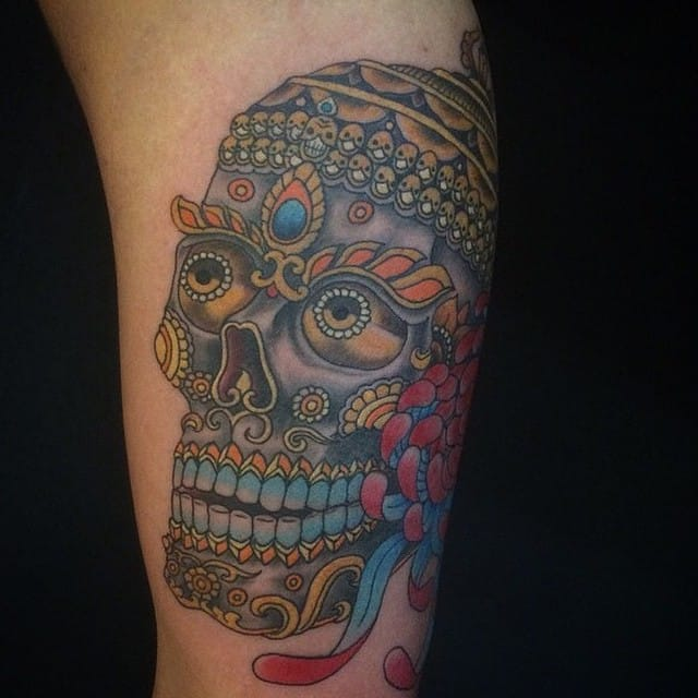 Full color, Tibetan skull - Yoni Zilber