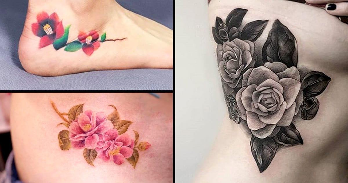 Camellia Tattoo Designs