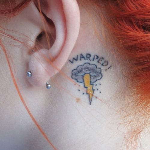 25 Awesome Behind the Ear Tattoos Part 3