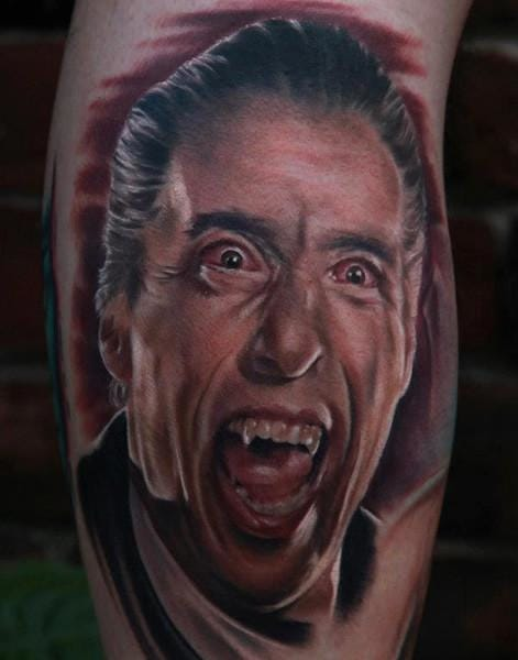 A brilliant portrait of actor Christopher Lee in his role as Count Dracula