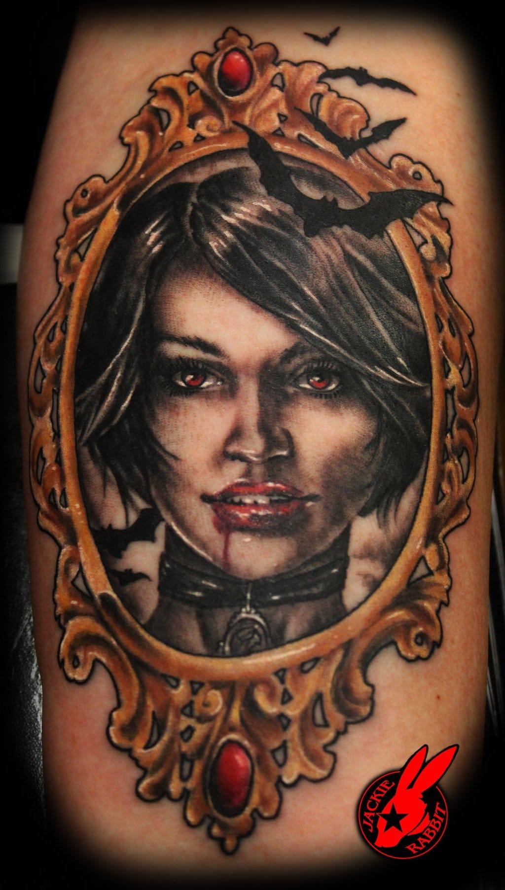 Vampire portrait by Jackie Rabbit