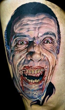 This tattoo is straight out of a child's nightmares!