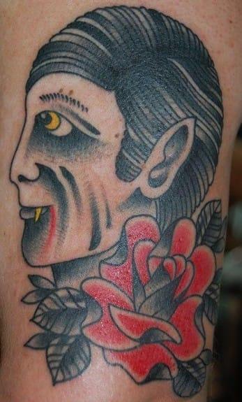 A little less scary Dracula tattoo!!