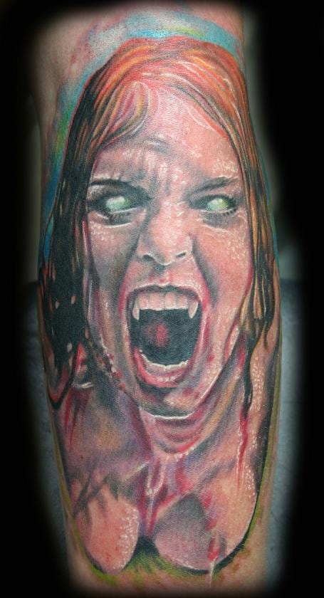 Just a little unnerving! Awesome tattoo though!